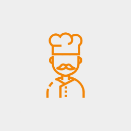 Icon chef avatar graybackground