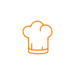 Icon chef whitebackground