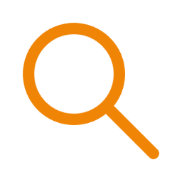 Icon search orange